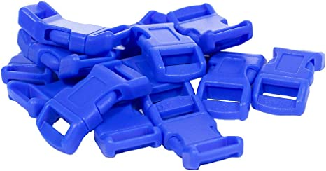 50-1//2 Inch Blue Economy Contoured Side Release Plastic Buckles