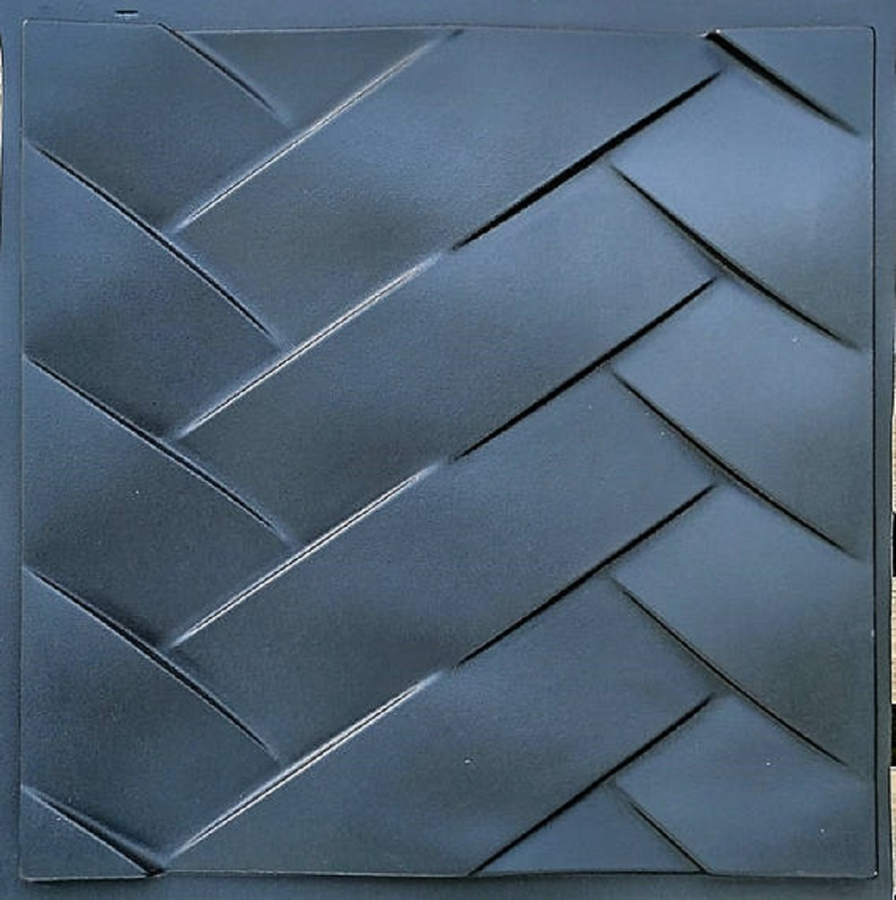 Plastic mold for 3d decor wall panels #25, for plaster (gypsum) or concrete