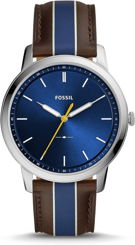 Fossil Reloj Analógico para Hombre de Cuarzo con Correa en Cuero FS5554