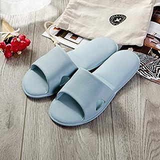 CWJDTXD Pantofole estive Ciabatte da aereo femminile ecologiche, senza gusto, pieghevoli, ultra leggere, da viaggio portatili da bagno, uomini e donne, sandali e ciabatte, 42/43, blu grigio