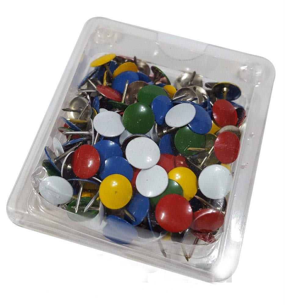 400 Assorted Color Push Pin Thumb Tacks Multi Color Head Office Home by Unknown (Image #6)