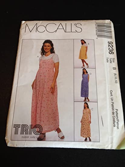 35e3bdf159abf Amazon.com: McCall's 9236 Sewing Pattern, Maternity Dress and Jumper ...