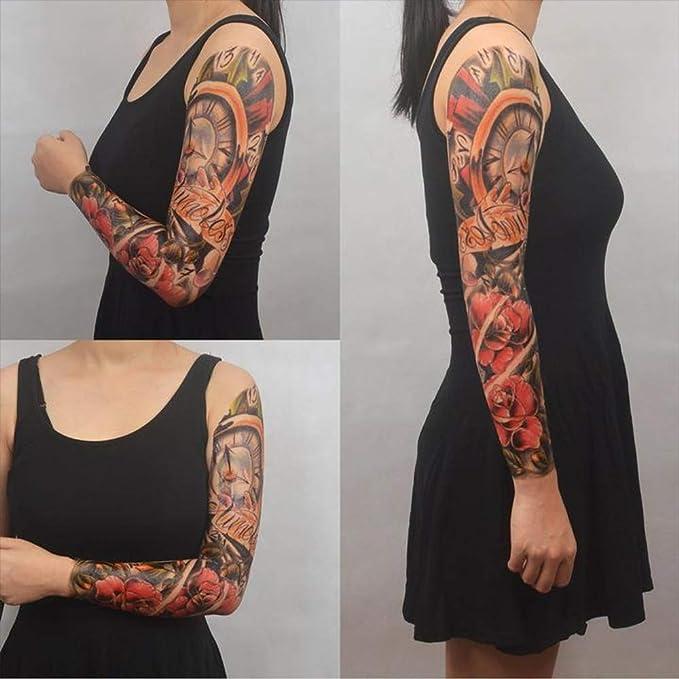 Tatuajes temporales para hombre y mujer, brújula y flores ...