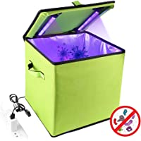 PXQ Caja de desinfectante de luz UV, baúl Organizador portátil para automóvil con19 lámpara de desinfección Ultravioleta LED para biberón Herramientas de Belleza Ropa Interior esterilización,Green