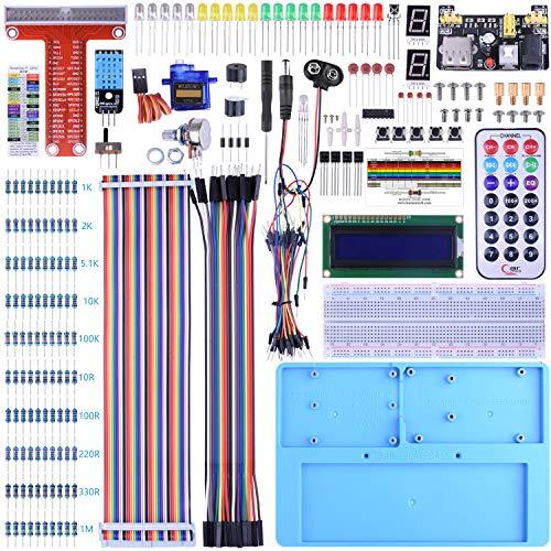 BONROB Raspberry Pi 4 Model B 3B+ Starter Learning Kit, with GPIO Expansion Board LCD RGB Breadboard Infrared Remote Control for Raspberry Pi 4B 3B+ 3B 2B Zero
