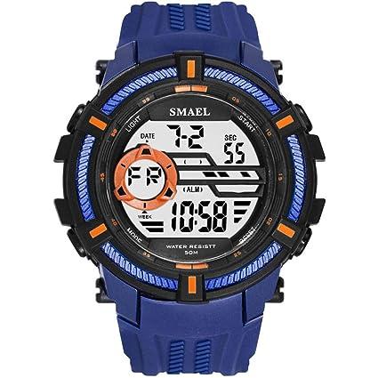 Digital Al Aire Libre Deporte Reloj, Deportes Impermeable Digital Soltero Monitor Luminoso Reloj, Agua