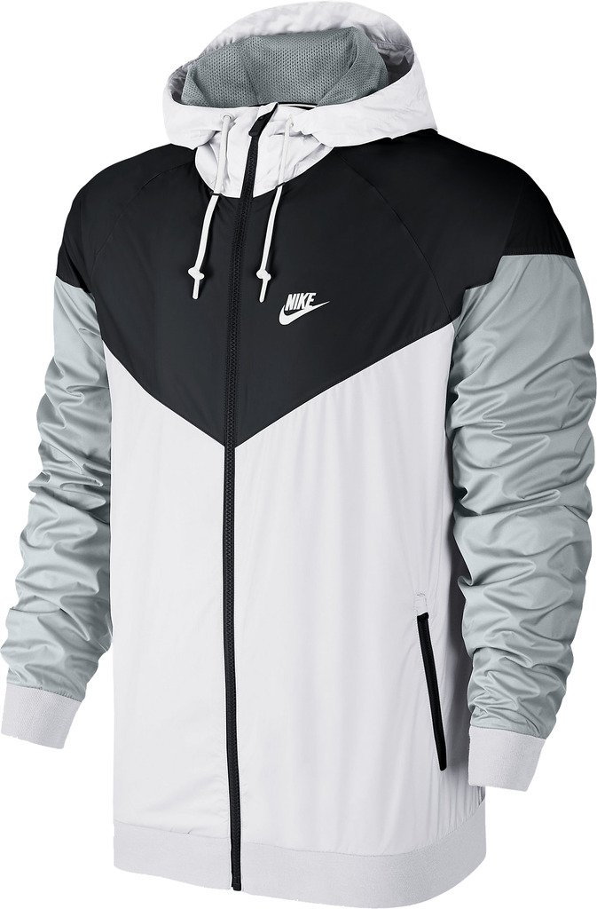 Men's Nike Windrunner Jacket (727324-101) - WHITE/BLACK/WOLF GREY/WHITE (XXX-Large)
