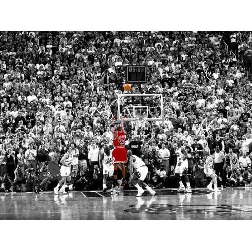 Amazon.com: D8891 Michael Jordan Jump Shot Utah Jazz NBA