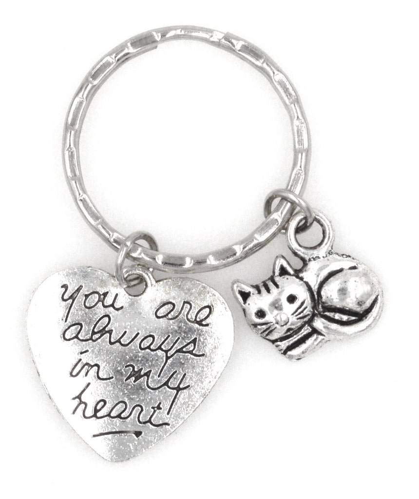 You are Always in My Heart Kitty Cat Keychain 107A