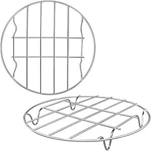 2 Pack Round Cooking Cooling Racks 10
