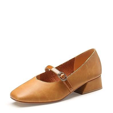 a6f3a0a0de3aa Koyi Épais Talon Mary Jane Chaussures Simple Tête Carrée Casual Boucle Femmes  Sandales Confortable Pompes  Amazon.fr  Chaussures et Sacs