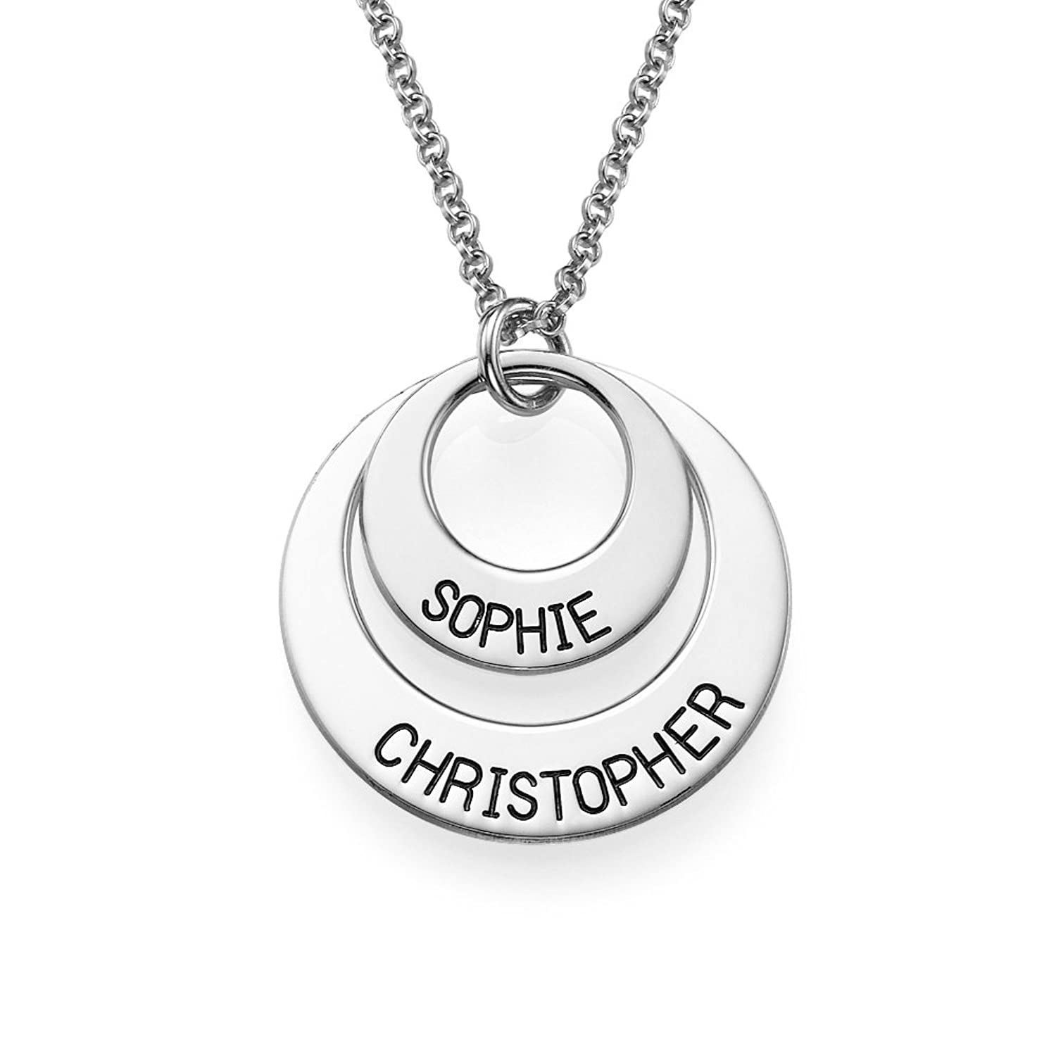 Amazon personalized disc necklace engraved with any name amazon personalized disc necklace engraved with any name perfect gift for her jewelry aloadofball Images