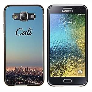 LECELL--Funda protectora / Cubierta / Piel For Samsung Galaxy E5 E500 -- California horizonte de la ciudad de LA los Ángeles --