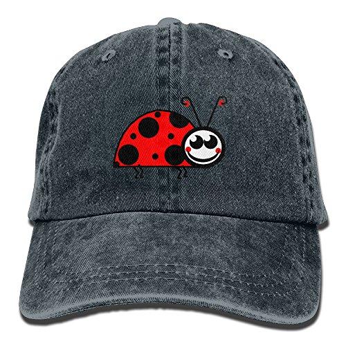 Denim Cap Headgear (Male's Girl's Cap,lady Bug Yarn-Dyed Denim Hat For Men Female Unisex)