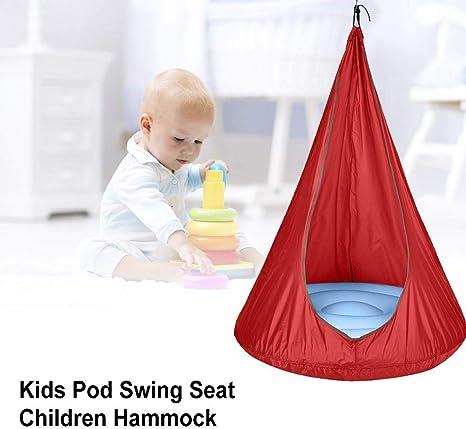 Clevoers Kids Pod Swing Seat, Children Hammock Chair for Fun