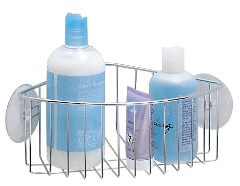mdesign duschkorb zum hngen aus metall die ideale eck duschablage fr shampoo schwmme - Duschzubehor Zum Hangen
