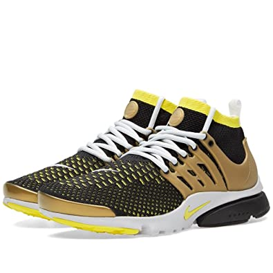 Air Presto Flyknit Ultra Men's Shoes Black/Yellow Streak/Metallic Gold/Neutral Grey 835570-007 (9 D(M) US)