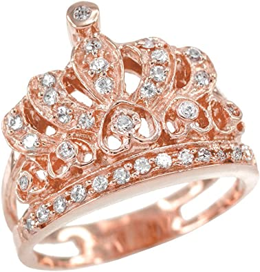 10K Quinceanera Jewelry Elegant 15 Anos Yellow Gold Ring