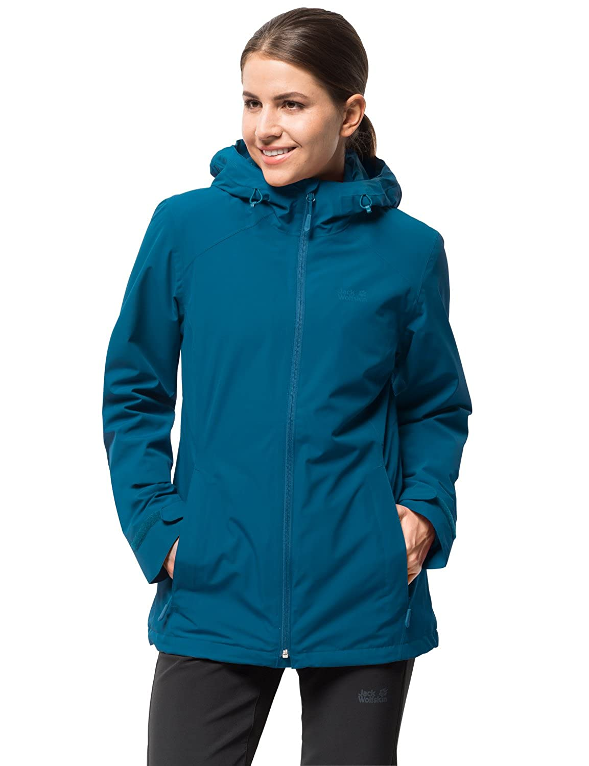 Celestial bluee Jack Wolfskin Women's Norrland 3in1 W Waterproof Insulated Jacket