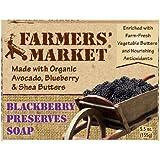 Farmers' Market Natural Bar Soap, Blackberry Preserves, 5.5 Ounce (Pack of 2)