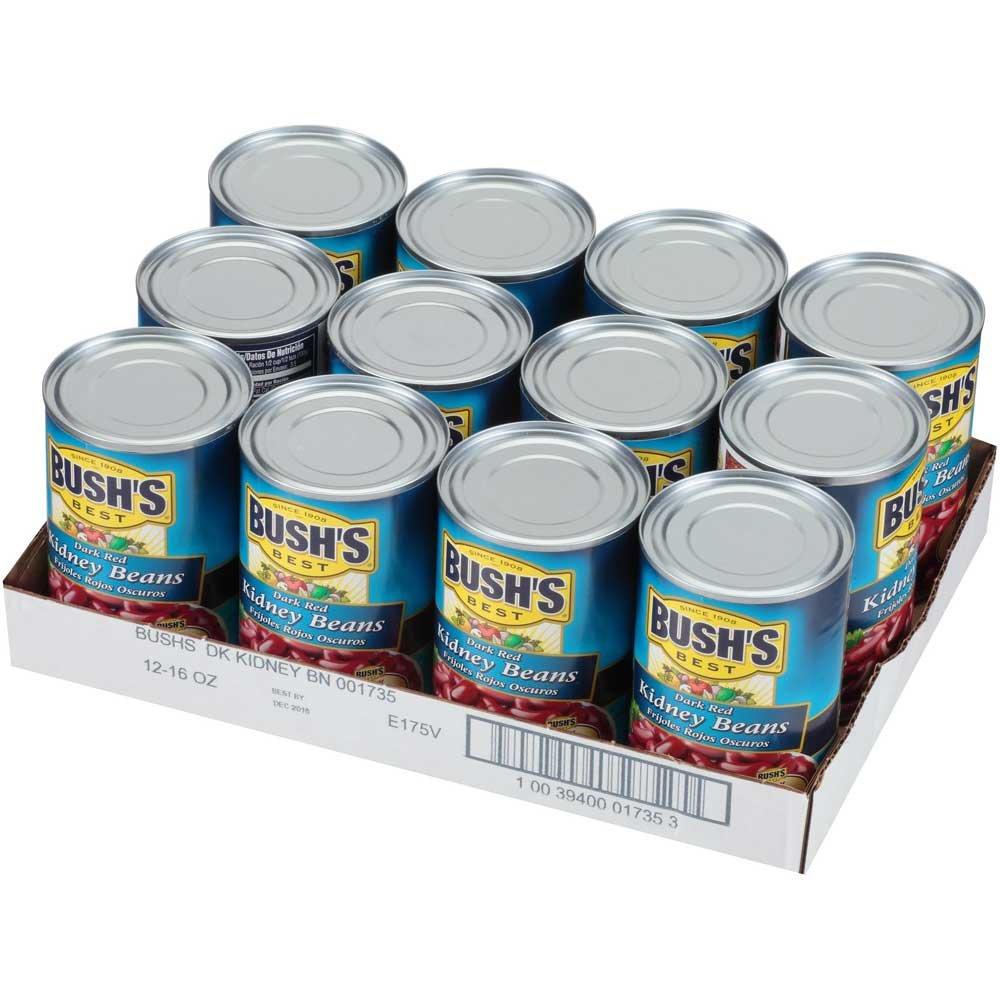 Bushs Best Dark Red Kidney Beans, 16 Ounce - 12 per case.