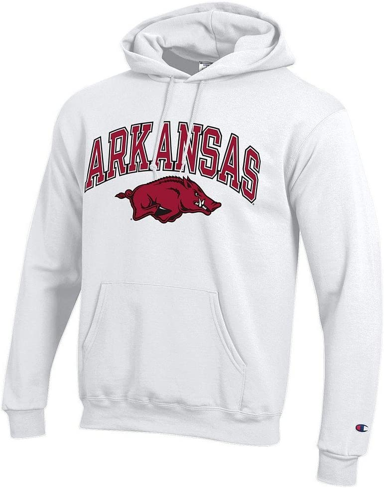 Elite Fan Shop NCAA mens White Arch Hoodie Sweatshirt