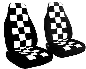 amazon 2 black and white checkered car seat covers for a 2009 Mini Cooper Limo amazon 2 black and white checkered car seat covers for a 2009 mini cooper clubman airbag friendly automotive