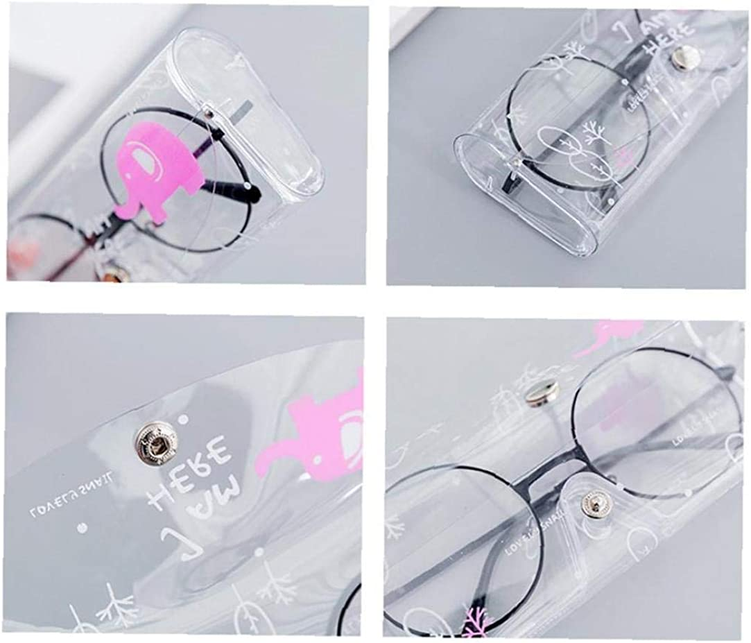 Zonfer Cartoon Cute Travel Transparent PVC Eye Glasses Box Bag Case Protection Carry Box Eyewear Accessoires for Women Girls