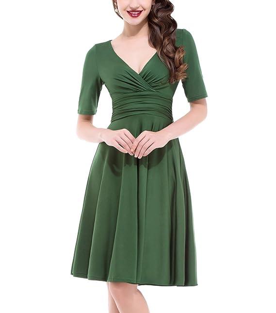 GRACE KARIN - Vestido - para Mujer Verde Verde Small