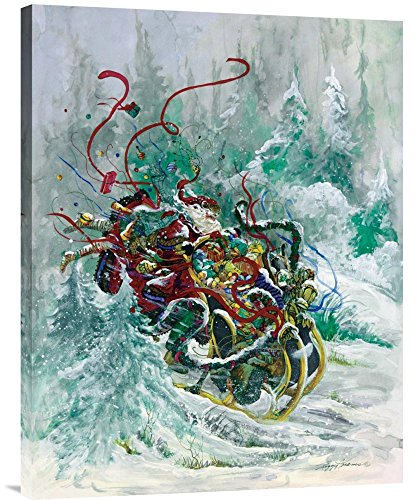 Global Gallery Budget GCS-119649-2432-142 Peggy Abrams Windswept Toys Gallery Wrap Giclee on Canvas Print Wall Art