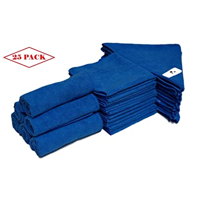 MV WARES Microfiber Cloth 25 Pack - All Purpose Cleaning Cloth Designed to Save You time and Money. Eco Friendly: Home & Kitchen