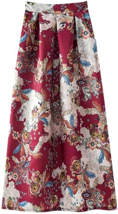 HEYJO1 Faldas para Mujer de Moda de Verano Falda Larga de Cintura ...