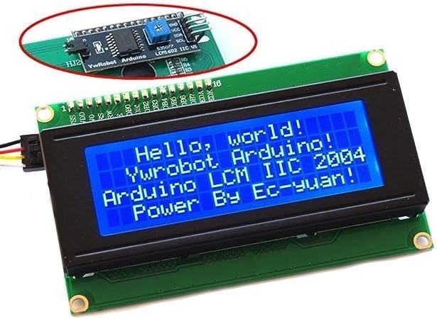 Yellow Serial IIC I2C TWI 2004 20x4 Character LCD Module Display for Arduino