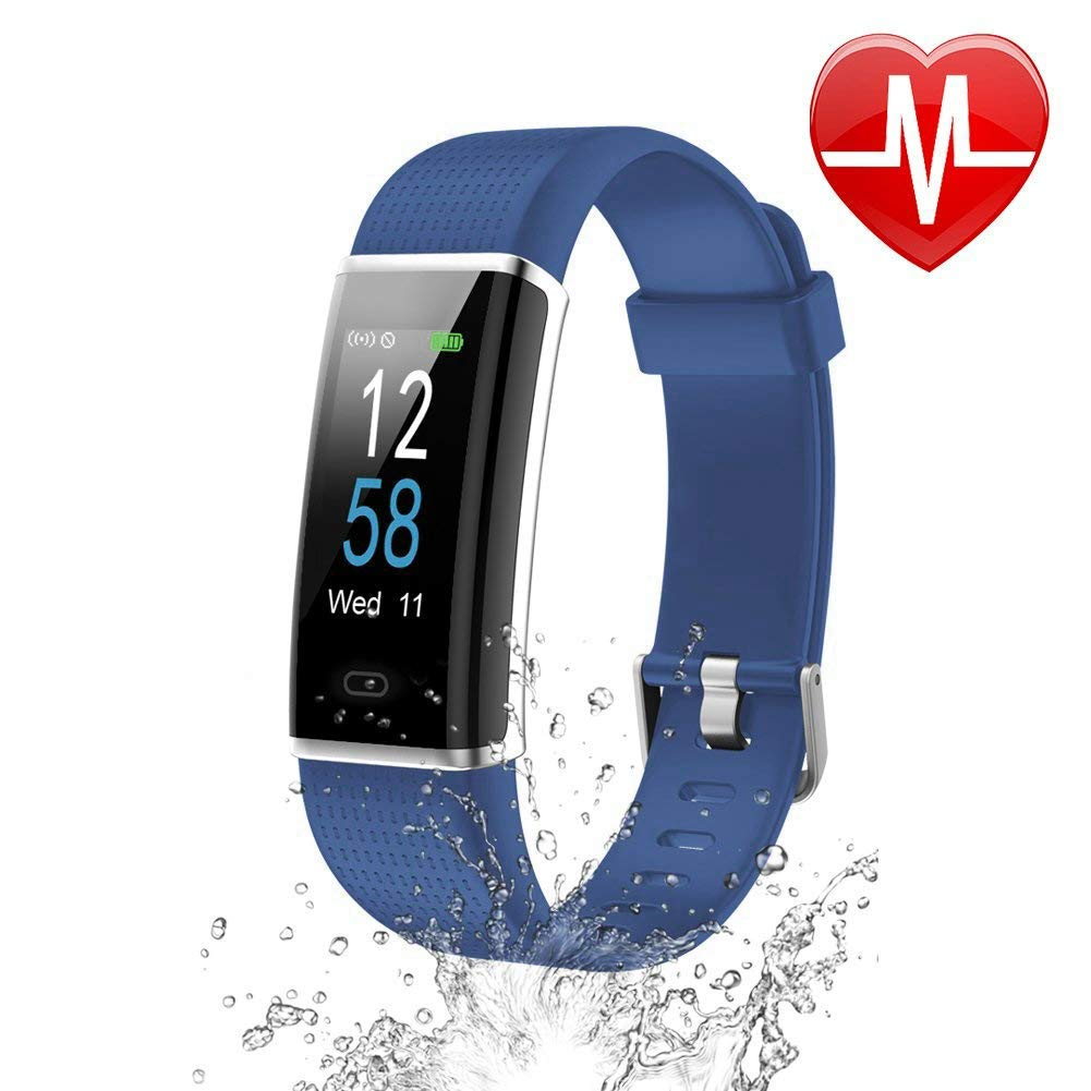 Letsfit Fitness Armband mit Pulsmesser 14 Trainingsmodi IP68 Wasserdicht ID130Plus Color HR