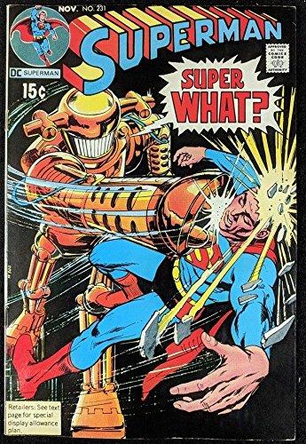 (Superman (1939) #231 FN (6.0) Neal Adams inks)