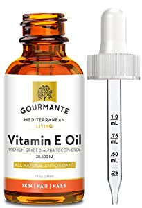 Pure Vitamin E Oil 28,500 IU. Extra Strength, Non-Synthetic. Premium Grade, Natural D-Alpha Tocopherol. Powerful Antioxidant Skin, Hair and Nail Oil Serum. Non-GMO (1 oz)