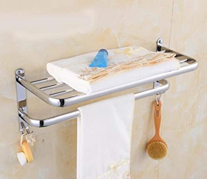 L.I. Peluquería, Pared de estantes, Toalla en Acero Inoxidable 304 Accesorios Pastillas de baño