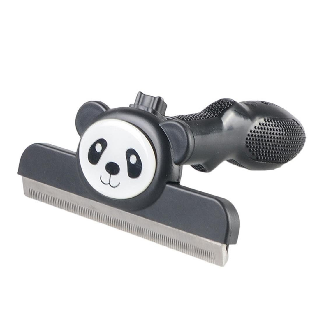 Naladoo Panda Pet Grooming Brush Black, Professional Deshedding Tool, Effectively Reduces Shedding By Up To 90% for Short Hair and Long Hair Dogs/Cats (S) IU32566436436