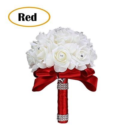 Amazon.com: piso boda flor Rose Crystal ramo, ramo nupcial ...