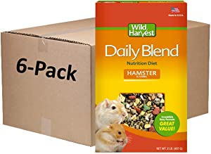 Wild Harvest Daily Blend Nutrition Diet Hamster and Gerbil 2 Pounds, Pack of 6