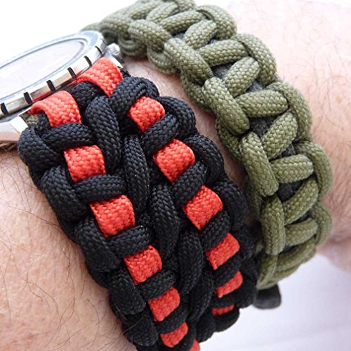 MilSpec Paracord Black 110 ft. Hank, Military Survival Braided Parachute 750 Cord. Use with Paracord Tools for Tent Camping, Hiking, Hunting Ropes, Bracelets & Projects. Plus 2 eBooks. by Paracord 550 Mil-Spec (TM) (Image #6)