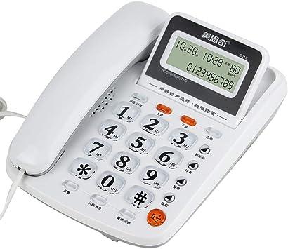 DRCO Teléfono, teléfono fijo fijo en el hogar, despertador ...