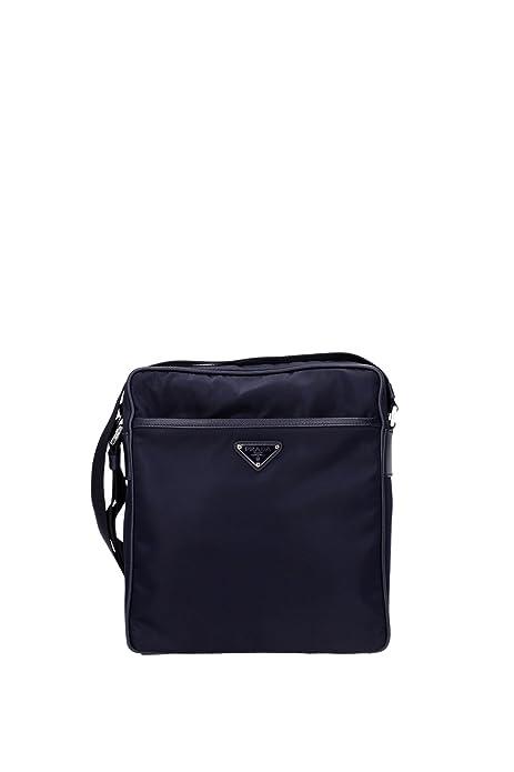 16530ef053fcd2 Borse a Tracolla Prada Uomo Nylon Blu e Nero 2VH002BLEU Blu 8x24x27 cm   Amazon.it  Scarpe e borse