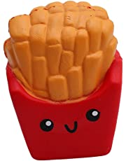 HENGSONG Toy Slow Rising Relieves Stress Soft Toy for Children and Adult Toy Gift French Fries Red