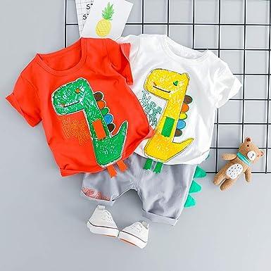 Camiseta Tops y Pantalones de Dibujos Animados para bebé niños, Camiseta Manga Corto niñas niños Bebes Camisas Body: Amazon.es: Ropa y accesorios