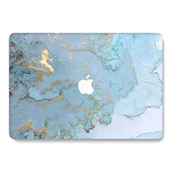 MacBook Air 13 inch Hard Case for Model A1369 / A1466 - AQYLQ Smooth Touch Matte Plastic Rubber Coated Protective Shell Cover, DL 41 -Blue marble