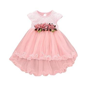 Remoción bestoppen bebé niñas vestido de princesa de, diseño de sin mangas flor Impreso Swing