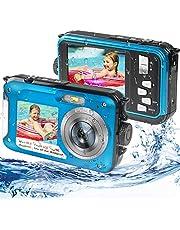 $86 » Waterproof Digital Camera Underwater Camera Full HD 2.7K 48MP Waterproof Camera with Dual Screen | 16X Digital Zoom | Flashlight