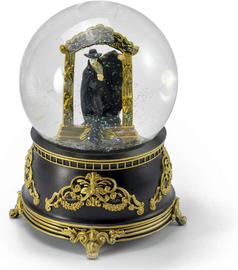 MusicBoxAttic Phantom of The Opera – Phantom Stepping Through Mirror Water Globe - Many Songs to Choose - My Old Kentucky Home