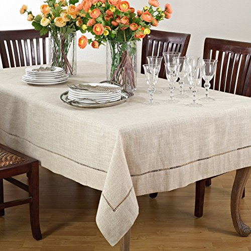 - Saro Toscana Linen Blend Tablecloth 90